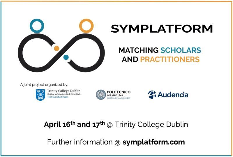 Apple à Communication Symplatform: 1st Symposium matching Scholars and Practitioners on Digital Platforms 16-17 Avril 2020, Trinity College Dublin (Ireland)